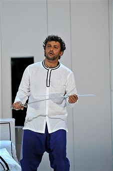 Jonas Kaufmann as Otello in the Royal Opera's production of Giuseppe Verdi's Othello directed by Keith Warner and conducted by Antonio Pappano at The Royal Opera House on June 17, 2017 in London, England.