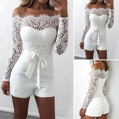 34 Ideas How To Wear White Shorts Summer Dream Wedding Dresses, Bridal Dresses, Wedding Gowns, Prom Dresses, Formal Dresses, Wedding Rompers, Wedding Jumpsuit, Confirmation Dresses, Summer Outfits
