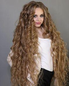 We Love Rapunzel Hair Long Thin Hair, Really Long Hair, Long Natural Hair, Long Curls, Super Long Hair, Long Curly Hair, Long Hair Cuts, Curly Hair Styles, Natural Hair Styles