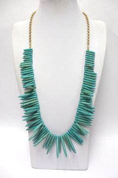 Love the Turquoise!!    Turquoise Fan Necklace by taralynndesigns on Etsy, $40.00