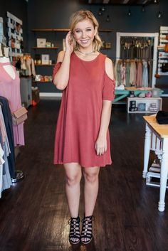 Lace Up Detail Short Sleeve Cold Shoulder Round Neck Dress – UOIOnline.com: Women's Clothing Boutique
