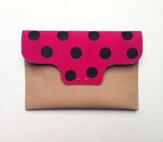 A polka-dot clutch makes a nice festive touch. #etsyfinds #etsy
