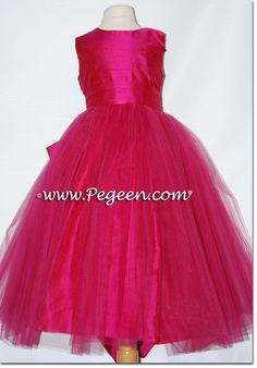 Raspberry and green silk with tulle ballerina flower girl dresses by rasberry flowergirldresses by pegeen flower girl dresses on pink flower girl dresseshot mightylinksfo Gallery