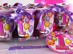 give away's, birthday child, printed satin ribbons