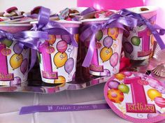give away's, birthday child, printed satin ribbons
