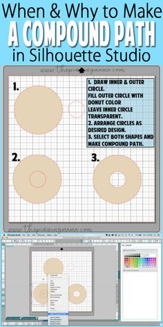 What are Compound Paths and Grouping {Silhouette Boot Camp Lesson – The Pinning Mama Silhouette School Blog, Silhouette Design Studio, Silhouette Cameo Tutorials, Silhouette Cutter, Silhouette Cameo Machine, Silhouette Vinyl, Silhouette Projects, Silhouette Files, Silhouette America