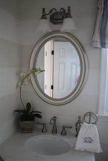 Decorating a Powder Half Bathroom: Before and After | http://bathroominterior83.blogspot.com