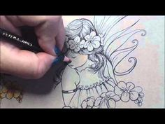 Video: Coloring Skin with Spectrum Noir Blendable Pencils - Spectrum Noir Coloring System from Crafter's Companion