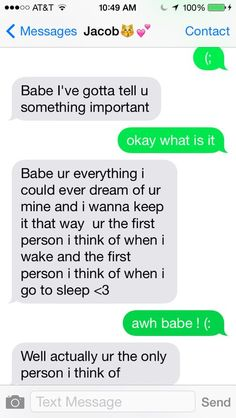 cute text messages | We Heart It | texting boyfriend and