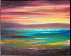 Abstract+modern+art+painting+Original+acrylic+by+TheEscapeArtist,+$75.00