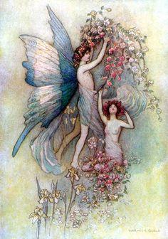 antique, art, faerie, fairies, fairy