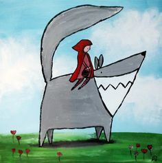 Storybook Friendly Dragon Original Painting Kids Wall door andralynn