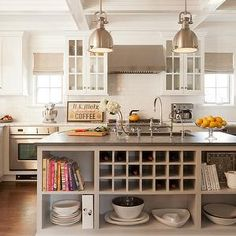 Built In Wine Rack, Transitional, kitchen, Ruth Richards Interiors