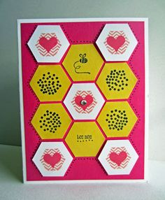 Paper Seedlings: BEE MINE Such a cute Valentine's Day Card DIY!