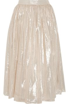 Net-a-Porter - Alice + Olivia Evita pleated metallic silk-blend skirt Designer Clothes Sale, Discount Designer Clothes, Fall Skirts, 2000s Fashion, Fashion Outlet, Skirt Outfits, Alice Olivia, Midi Skirt, Dress Up