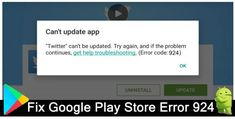 How To #Fix #Error #924 In #GooglePlay [9 Methods]. #Restart #Android. Check #Internet Connection. #Clear #Cache And #Data Of #GooglePlay. Uninstall Update Of #Google Play Store. Delete And Re-Login To Google Account. Remove Security Software. #AndroidRepair Software.