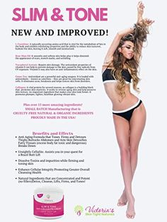 Amazon.com : Slim & Tone Anti Cellulite Cream Firming Lotion Botanical Defense Skin Tightening Reduce Sagging Loose Skin Dimples Buttocks Legs Stomach Plus Exclusive Diet and Recipe Guide FREE : Beauty Body Firming Cream, Skin Tightening Cream, Skin Firming, Cellulite Cream, Anti Cellulite, Beauty Tips, Beauty Products, Cellulite Remedies, Loose Skin