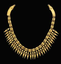 A Greek gold strap necklace | ca. 3030 - 300 B.C. -- reminds us of something http://www.moonriverstore.com/jewelry/necklaces/tribal-necklace-12.html