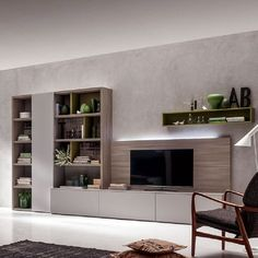 Ultramodern, minimalist 'Hugh' TV Unit by Santa Lucia