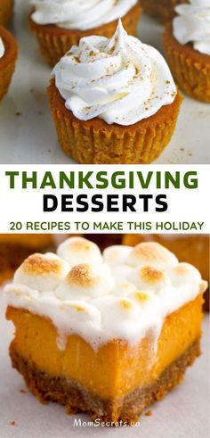 20 Best Thanksgiving Desserts Ideas - Easy Recipes