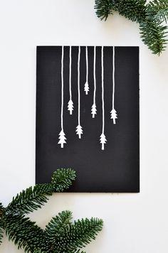 Handmade Christmas card inspiration. Ideas for christmas postcards  linaandme.blogspot.co.uk