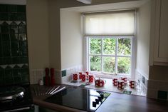 Silent Gliss Colorama blinds - in this South West Cornwall kitchen Sheer Roller Blinds, West Cornwall, Kitchen Cabinets, Furniture, Home Decor, Decoration Home, Room Decor, Cabinets, Home Furnishings