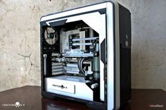 #custompc Build A Pc, Gaming Pc Build, Computer Build, Gaming Pcs, Gaming Station, Gaming Room Setup, Pc Setup, Diy Computer Case, Computer Internet