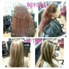 Sliced 6RM, 3N, prelightner 20 VOL & long layered haircut done by myself Rebecca Gonzalez @ Simply Chic Beauty Salon
