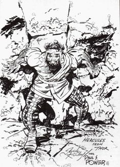 Hercules by Jack Kirby. KIRBY!