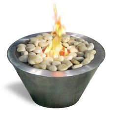 Anywhere Fireplace Oasis Free Standing Gel Fireplace. It can be placed on a table as a center piece or along a walkway ,patio or poolside to provide the interesting and distinctive glow of the real fire. Liven your living space with this portable fireplace.
