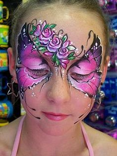 Facepainting - beautiful butterfly
