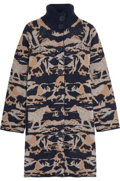 SEE BY CHLOÉ Intarsia wool coat