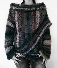 Ravelry: Takki Poncho - Crochet Pattern by Katja Löffler for 5.49 EUR.