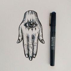 Hamsa - evil eye style