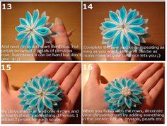 Kanzashi Tutorial : Chrysanthemum