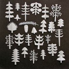 wonderful cut paper trees by Sandra Juto
