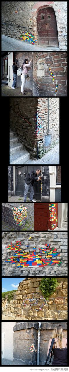 Funny pictures about Patching up walls with LEGO. Oh, and cool pics about Patching up walls with LEGO. Also, Patching up walls with LEGO. Apple Watch Cost, Gold Apple Watch, Graffiti, Cool Stuff, Funny Stuff, Random Stuff, Random Items, Awesome Things, Funny Shit