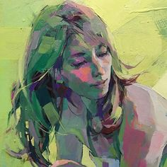 Izumi Kogahara (Japanese, b. Abstract Portrait Painting, Abstract Painters, Portrait Art, Figure Painting, Abstract Art, Portrait Paintings, Art Paintings, Expressive Art, Fantasy Kunst