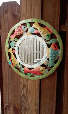 Vintage Hand Painted Mirror from Haiti by paperwerks on Etsy #etsy $25