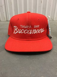 ad70098d8 Vintage Deadstock NFL Tampa Bay Buccaneers Pro Line Sports Specialties  Single Line Script Tampa Bay Buccaneers