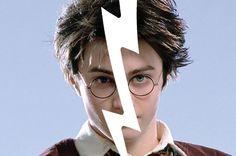 """Harry had a thin face, knobbly knees, black hair, and bright green eyes."""
