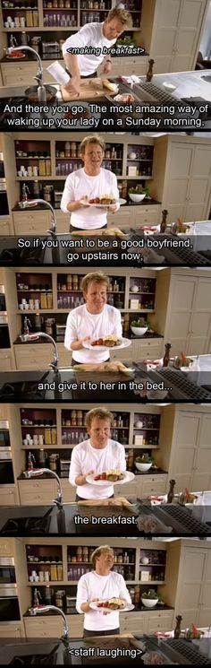 Even chef Ramsay have awkward moments.