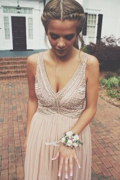 Embellished Dress // I think I would really like this for the bridesmaids dresses. Definitely with an up-do.