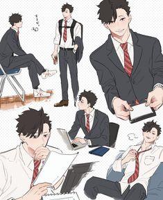 Haikyuu Nekoma, Kuroo Tetsurou, Haikyuu Funny, Haikyuu Fanart, Haikyuu Anime, Kenma, Hot Anime Boy, Anime Love, Anime Guys