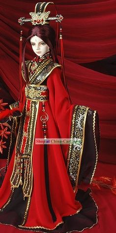 Chinese Emperor Costumes and Crown Set