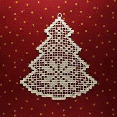 Filet Christmas Tree FSL Lace hafty Design FSL Boże