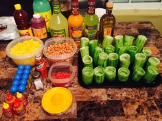 Getting ready to make pepinos locos and some margaritas yummy
