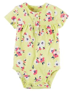 Baby Girl Floral Bodysuit | Carters.com