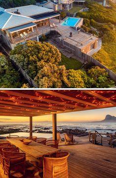 Pringle Bay Beach House by Cape Summer Villas Seaside, Beach House, Pergola, Villa, Bucket, Ocean, Outdoor Structures, House Design, Goals