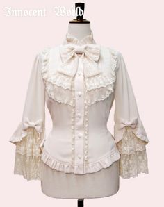 Innocent World - Princess Sleeves Doll Blouse, Beige
